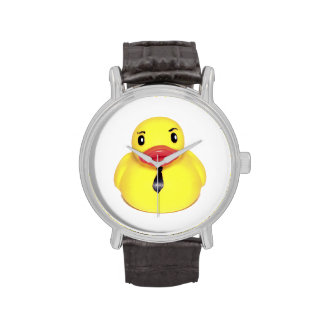 Business Duck, Rubber Duck with a Tie Watch