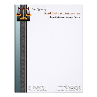 Business Elegance Attorney Letterhead