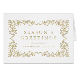 Business Elegance Corporate Holiday Greeting Card