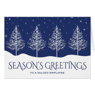 Business Employee Appreciation Holiday Greetings Note Card