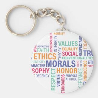 """Business Ethics"" Keychain"