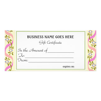 Business Gift Certificate | Rack Cards