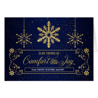 Business Holiday Glad Tidings of Comfort and Joy Card