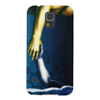 Business Integration Network with Hands Shaking Galaxy S5 Cover