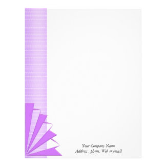 Business Letterhead stationary Purple design