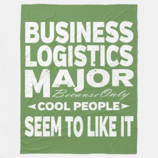 Business Logistics College Major Only Cool People Fleece Blanket