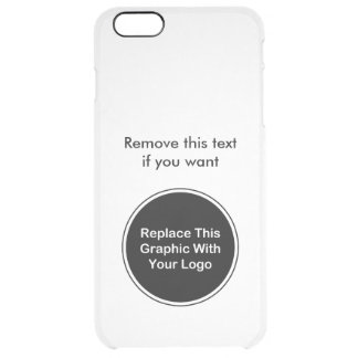 Business Logo Template Clear iPhone 6 Plus Case