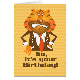 Business Man Birthday Card