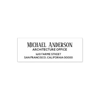 business name contact address architecture office self-inking stamp