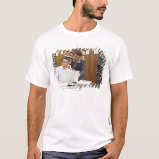 Business people doing research in library T-Shirt