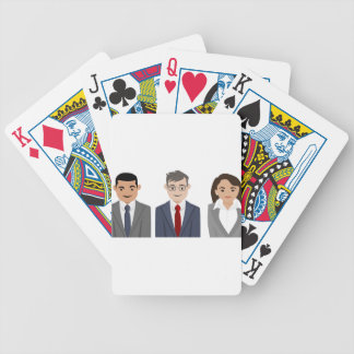 Business People Drawing Bicycle Playing Cards