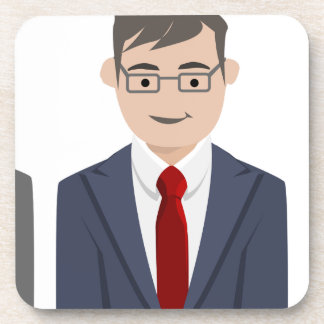 Business People Drawing Coaster