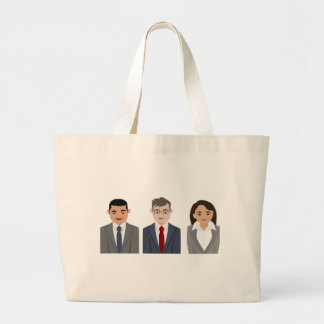 Business People Drawing Large Tote Bag