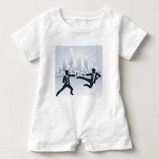Business People Kung Fu Fighting Baby Romper