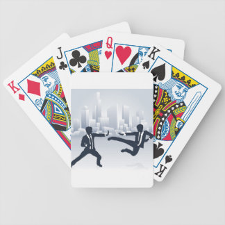 Business People Kung Fu Fighting Bicycle Playing Cards