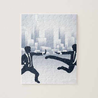 Business People Kung Fu Fighting Jigsaw Puzzle