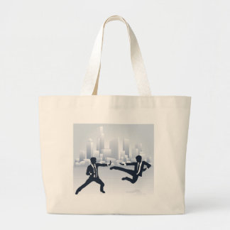 Business People Kung Fu Fighting Large Tote Bag