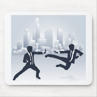 Business People Kung Fu Fighting Mouse Pad