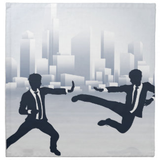 Business People Kung Fu Fighting Napkin