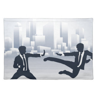 Business People Kung Fu Fighting Placemat