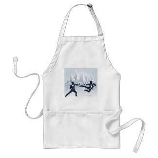 Business People Kung Fu Fighting Standard Apron