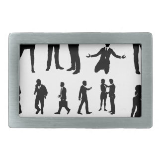 Business People Silhouettes Belt Buckle