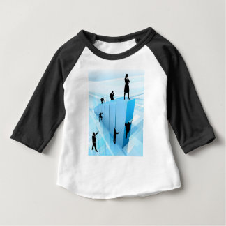 Business People Silhouettes Success Concept Baby T-Shirt