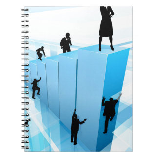 Business People Silhouettes Success Concept Spiral Notebook