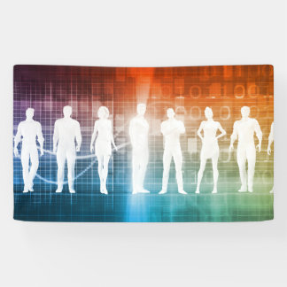 Business People Standing in a Row Confident Banner
