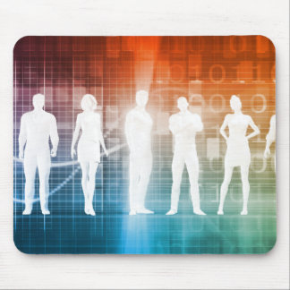 Business People Standing in a Row Confident Mouse Pad