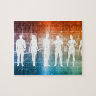 Business People Standing in a Row Confident Puzzle