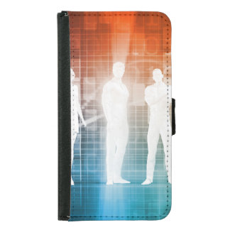 Business People Standing in a Row Confident Samsung Galaxy S5 Wallet Case