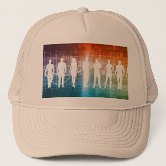 Business People Standing in a Row Confident Trucker Hat