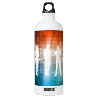 Business People Standing in a Row Confident Water Bottle