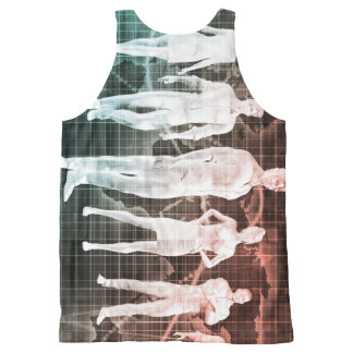 Business People Working Together on an Internation All-Over-Print Tank Top