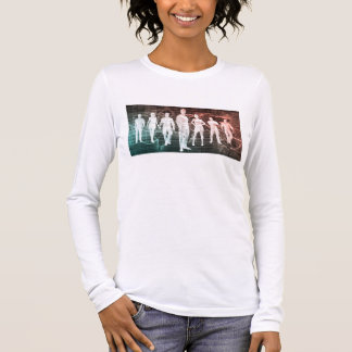 Business People Working Together on an Internation Long Sleeve T-Shirt