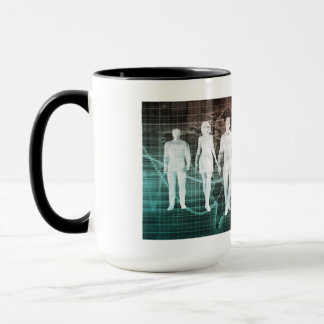 Business People Working Together on an Internation Mug