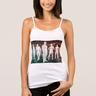 Business People Working Together on an Internation Tank Top