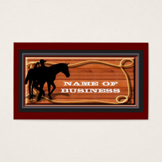 Business, Personal Western Style Card