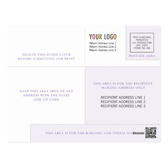 Business Postcard Template with Logo & Indicia