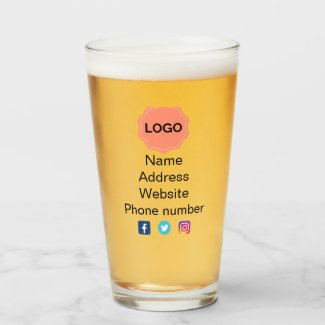 Business promotional glass
