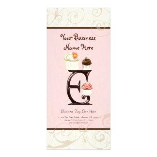 Business Rate Card - Letter E Monogram Dessert Bak Personalized Rack Card