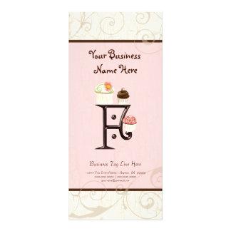 Business Rate Card - Letter F Monogram Dessert Bak Rack Card
