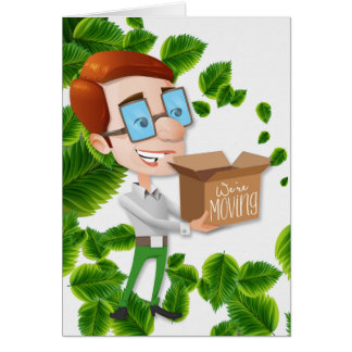 Business Relocation Announcement Businessman Greeting Card