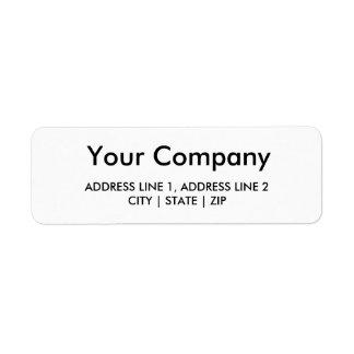 Business Return Address Labels | White