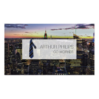 Business solid official office tie skyscraper card business card