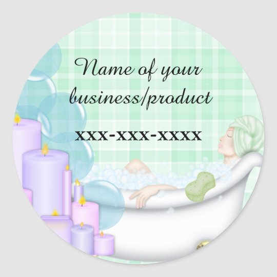 business spa sticker