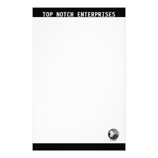 Business Stationary Black and White Stationery