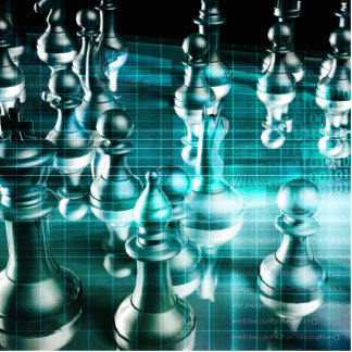 Business Strategy with a Chess Board Concept Photo Sculpture Ornament
