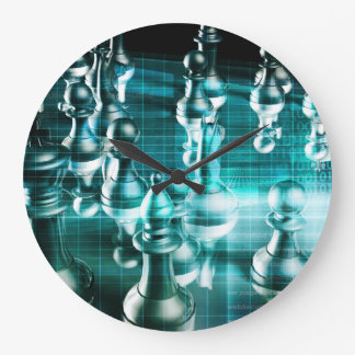 Business Strategy with a Chess Board Concept Wall Clocks